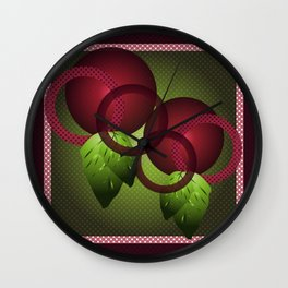 Raspberry with Basil Wall Clock