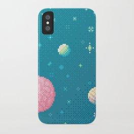 Brain Planet (8bit) iPhone Case