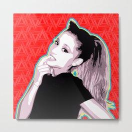 Ariana | Pop Art Metal Print