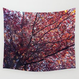 Under the trees - Autumn Wall Tapestry
