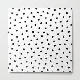 Polka Dot White Background Metal Print