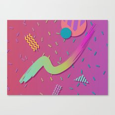 90s Throwback - Vaporwave for the Eyes Canvas Print