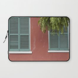 New Orleans Teal Shutters Laptop Sleeve