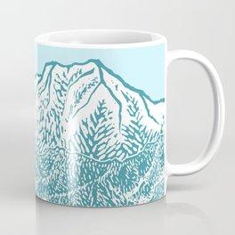 Distant Snow- 遠雪 : linocut Coffee Mug