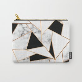 Black & White Marble Carry-All Pouch