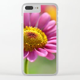 Pink summer flower 012 Clear iPhone Case