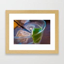 With Lime Framed Art Print