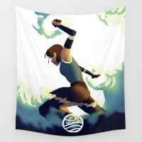 korra Wall Tapestries featuring Avatar Korra II by daniel