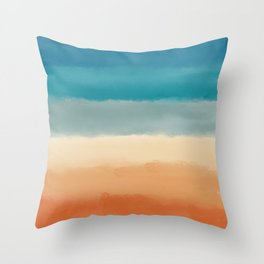 Seventies Palette (70's colors) Throw Pillow