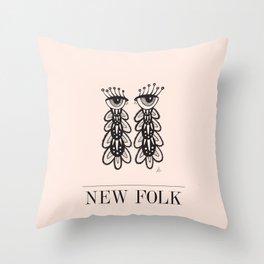 New Folk - Peepers Throw Pillow