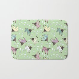 Pajama'd Baby Goats - Green Bath Mat