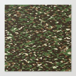 Camouflage: Woodland II Canvas Print