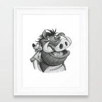 hakuna Framed Art Prints featuring Hakuna Matata! by Jack Kershaw