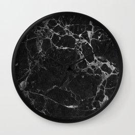 BLACK MARBLE Wall Clock