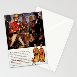 Vintage 1951 Johnnie Walker Alcohol - Whiskey Advertisement Poster Stationery Cards
