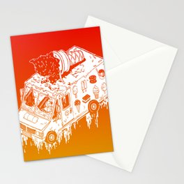 Melty Ice Cream Truck - sherbet Stationery Cards