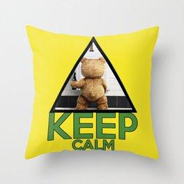 "Keep Calm ""Ted"" Throw Pillow"