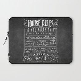 House Rules Retro Chalkboard Laptop Sleeve