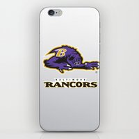 nfl iPhone & iPod Skins featuring Baltimore Rancors - NFL by Steven Klock