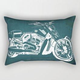 2011 HD VRSCF V-Rod Muscle green blueprint Rectangular Pillow