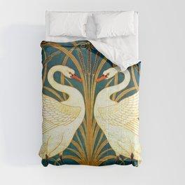 Walter Crane Swan Rush And Iris Comforters