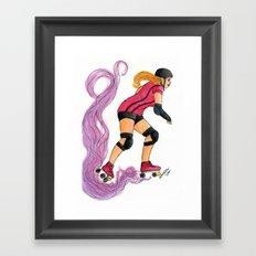 Roller Gurl Framed Art Print