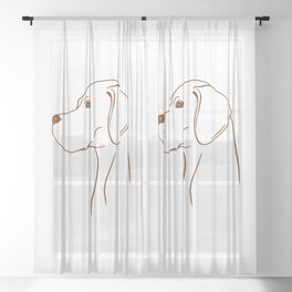 English Pointer (White and Brown) Sheer Curtain