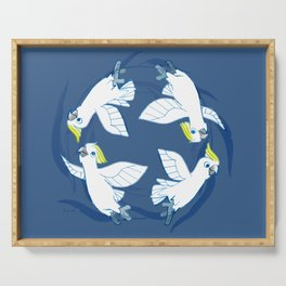 Cockatoo Angels (Blue) Serving Tray