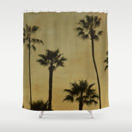 PALM TREES - TEXTURAL CALIFORNIA SUNSET Shower Curtain