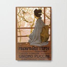 Vintage poster - Madama Butterfly Metal Print
