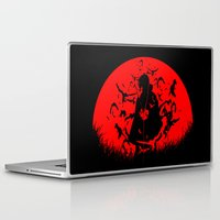 sasuke Laptop & iPad Skins featuring Red Moon Itachi by jpmdesign