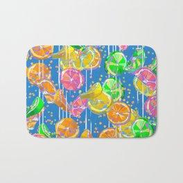 Pop Art Citrus Fizz | Blue Bath Mat