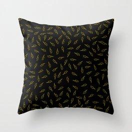 Stroke Yellow Bolts Throw Pillow