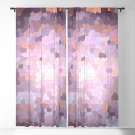 Abstract brown eggplant color mosaic Blackout Curtain