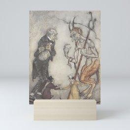 "Arthur Rackham - Dickens' Christmas Carol (1915): ""How are you?"" said one. Mini Art Print"