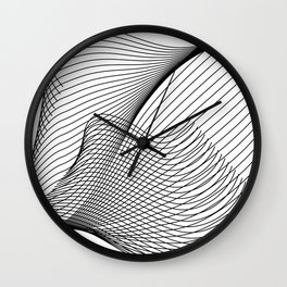 """""""Script Collection"""" - Minimal Letter Z Print Wall Clock"""