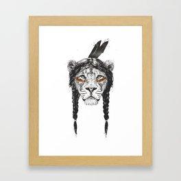 Warrior lion Framed Art Print