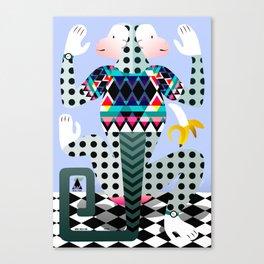 monkey poster Canvas Print