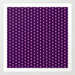 Purple Christmas Globes Art Print