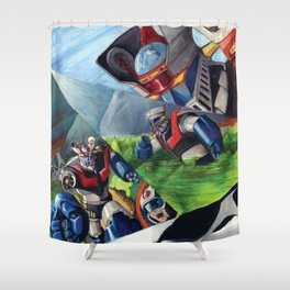 Mazinger Z Shower Curtain