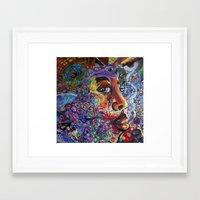 "phil jones Framed Art Prints featuring ""Jones"" by Mike Hooper Art"