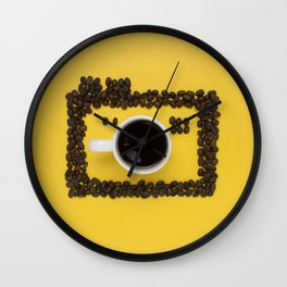 Coffee camera Wall Clock