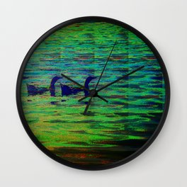 Ducks In A Row Wall Clock