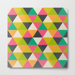 pattern with triangles Metal Print