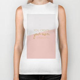 You create your own Opportunities quote in glitter gold Biker Tank