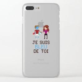 Bleu de toi Clear iPhone Case
