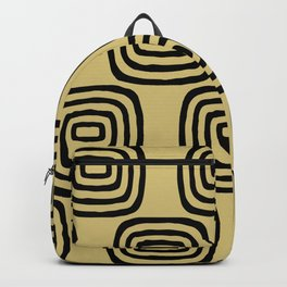 Mid Century Modern Concentric Pattern 253 Backpack