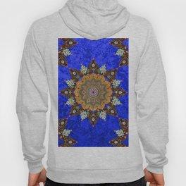 Gold Mandala in Blue Hoody