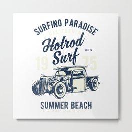 Hotrod Surf Metal Print