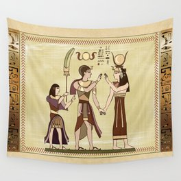 Calling to the Gods Egyptian Folk Art Wall Tapestry
